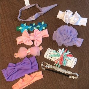 Bundle of 10 baby headbands